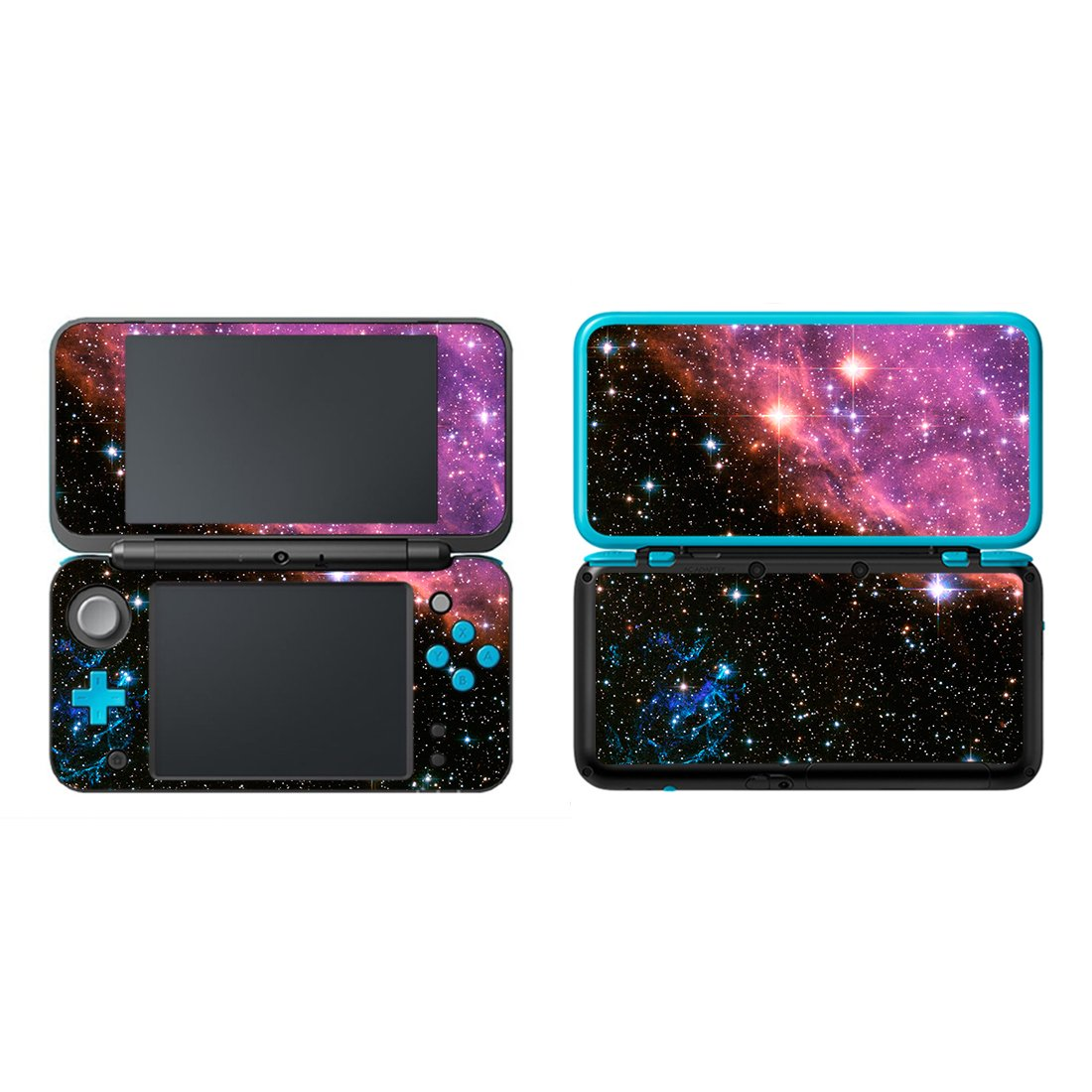 FOTTCZ Vinyl Cover Decals Skin Sticker for New Nintendo 2DS XL/LL - Purple Nebular