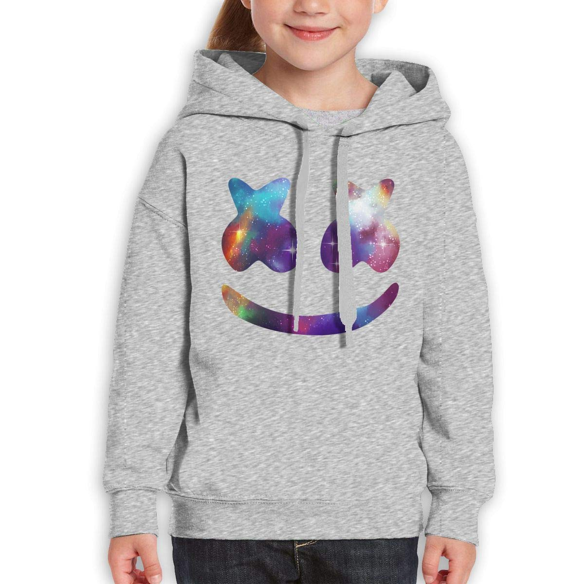 NPSFYXXP Teen Girls Boys Youth Sweater Marshmello Black