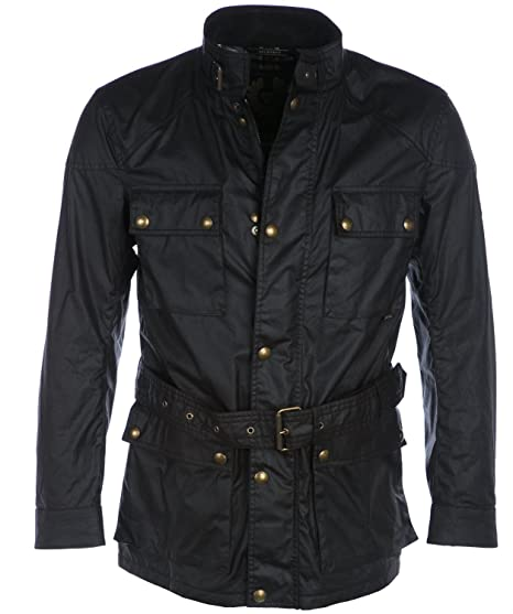 14c5ab694 Belstaff Roadmaster Waxed Cotton Jacket In Brown  Amazon.co.uk  Clothing