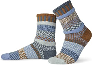 product image for Solmate Socks - Mismatched Crew Socks; Made in USA; Foxtail Large