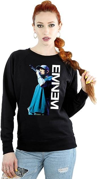 Eminem Mujer Mic Pose Camisa De Entrenamiento: Amazon.es: Ropa