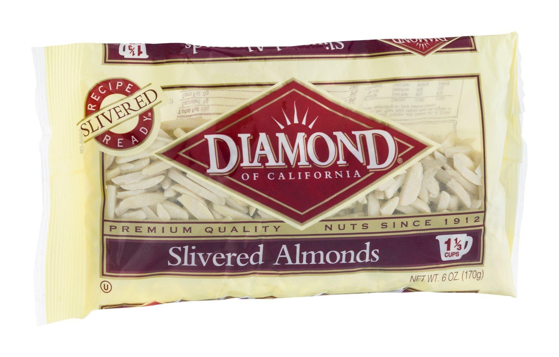 Diamond Slivered Almonds 6OZ (Pack of 24)