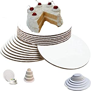12 Inch Cake Circle Pizza and Pie Circle Sturdy White Corrugated Cardboard Cake Circles 12 inch 100% Food Safe 12 inch Cake Boards Round Cake Board 12 inch (Pack of 25)