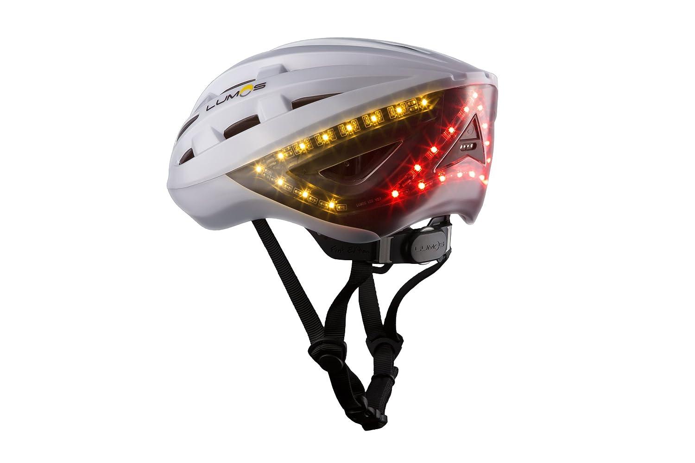 Lumos Smart – Casco de bicicleta con manillar intermitente inalámbrico remoto y sensor de movimiento integrado, 70 luces LED en la parte delantera, ...