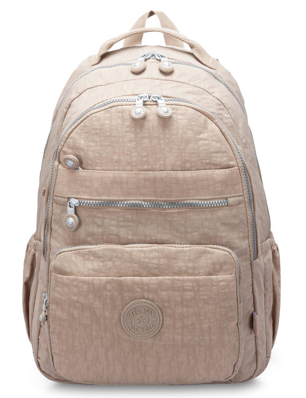 free shipping Oakarbo Backpack Medium Multi-Pocket School Bag Nylon Travel  Daypack(1604 Desert 6fb83aab714ab