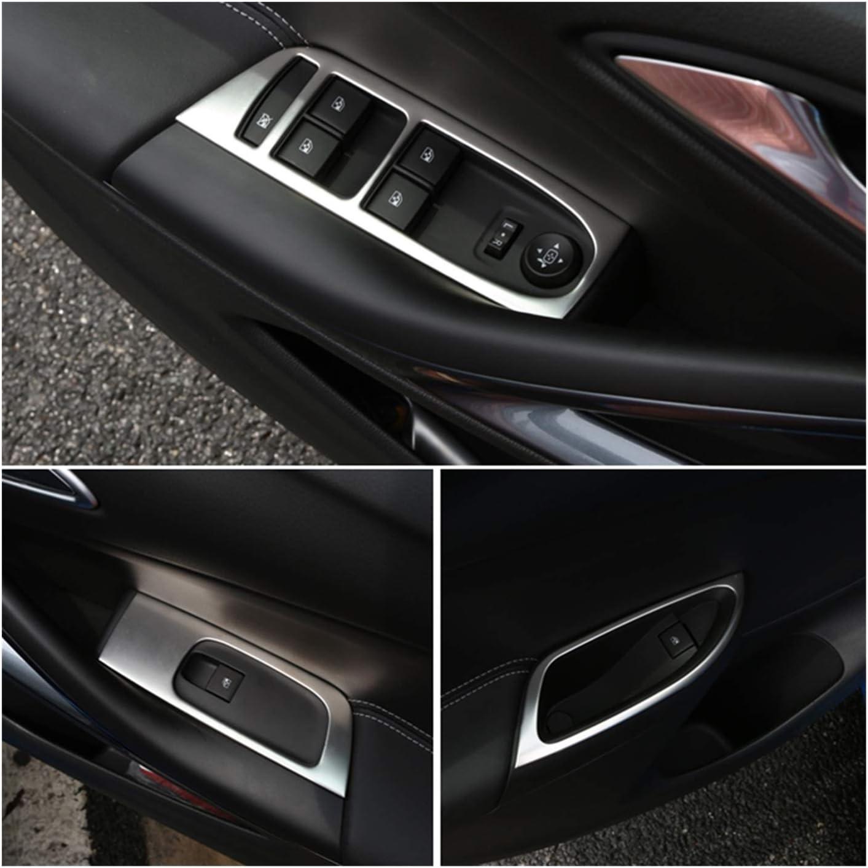 LHD XIAOFANG Novel-Nome Bot/ón de la Ventana del Panel de la Puerta con Adornos de Bezel Cubiertas Ajuste para Opel Astra K 2016 2017 2018 2019 Accesorios Accesorios Coche Styling