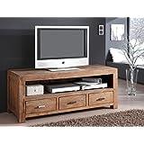 Lowboard Bihar 150x60x55 cm Akazie massiv stone TV-Möbel TV-Schrank Wohnzimmer
