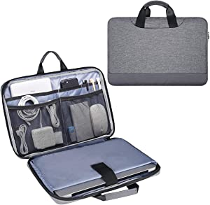 13.5 15 Inch Laptop Case, Men Women Laptop Bag Sleeve with Electronics Organizer for Dell Inspiron 13, Surface Laptop 3/2 13.5, HP Pavilion x360/EliteBook 840 14, Lenovo ThinkPad X1 Carring Bag, Gray