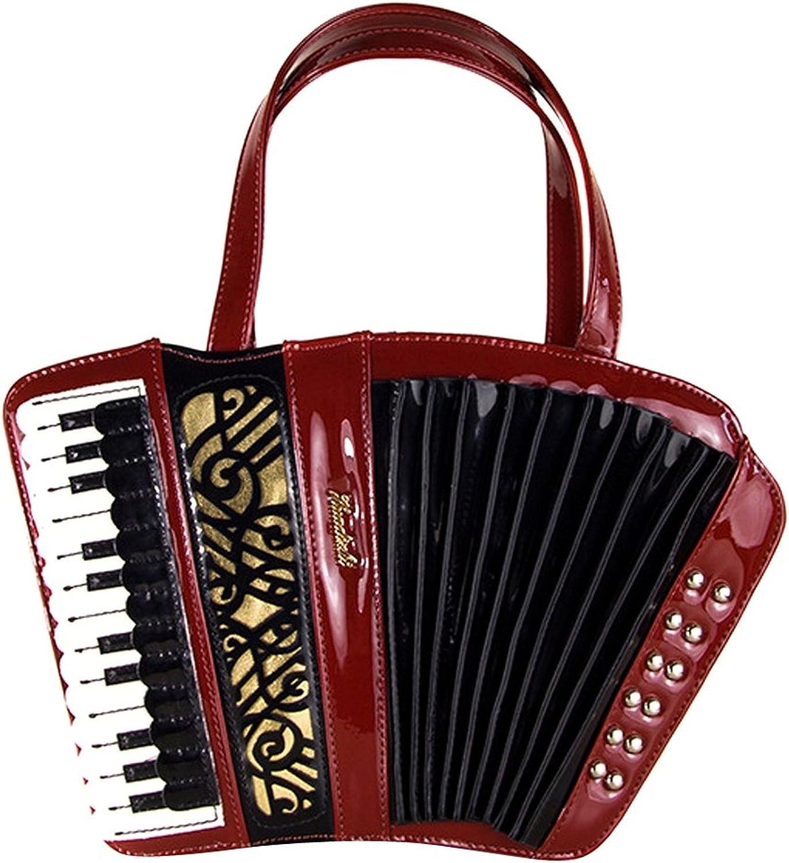 KDHJJOLY Practical Womens Retro Accordion Instrument Handbag Exquisite Carving Shoulder bag Chic