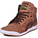 West Code Men's Synthetic Leather Casual Shoes 801-Tan