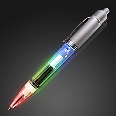 Rainbow Light Up Pen: Toys & Games