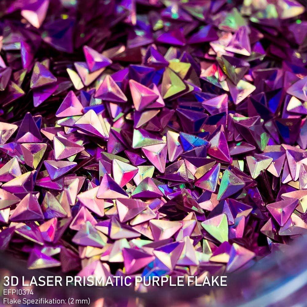 Effektpigment 3D Laser Prismatic Flake Glitter Polyester EFfekt Farbpigment f/ür Epoxidharz Resin Epoxy Autolack Aquarell Seife Kunst Geode
