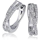 Goldmaid - Pa O5572WG - Boucles d'Oreilles Créoles Femme - Or blanc 585/1000 (14 carats) 3.0 gr - Diamant