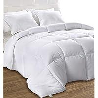 Utopia Bedding Down Alternative Comforter (Full, White) - All Season Comforter - Plush Siliconized Fiberfill Duvet…