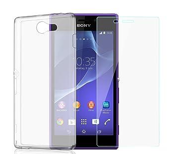 Sony Xperia M2 de TPU silicona Funda Flexible de carcasa ...