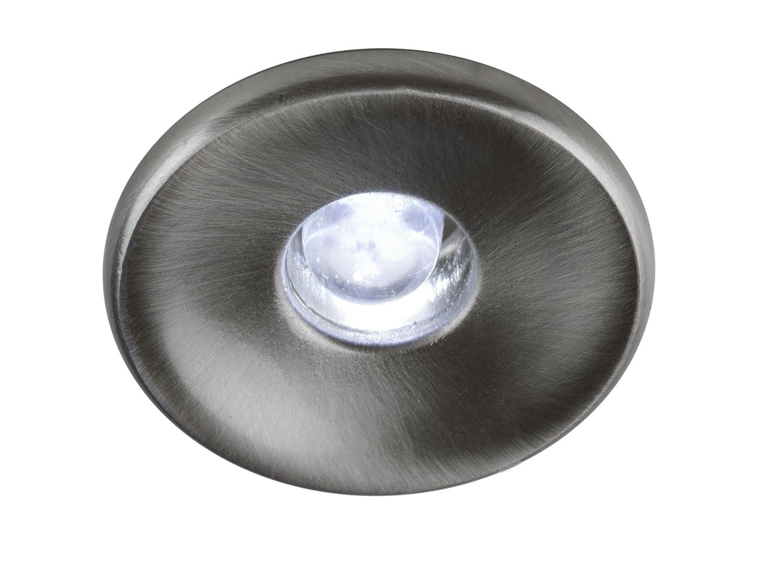 10 x 1,5 W LED Sternchen Spot Set 30 mm alu gebürstet (warmweiss) - inkl. AcTEC 20 VA Trafo
