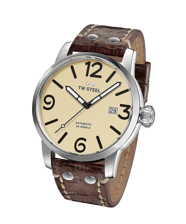 [ティーダブルスティール]TW Steel 腕時計 'Maverick' Quartz Stainless and Leather Casual Watch, MS25 メンズ [並行輸入品] B075HY1Y5B