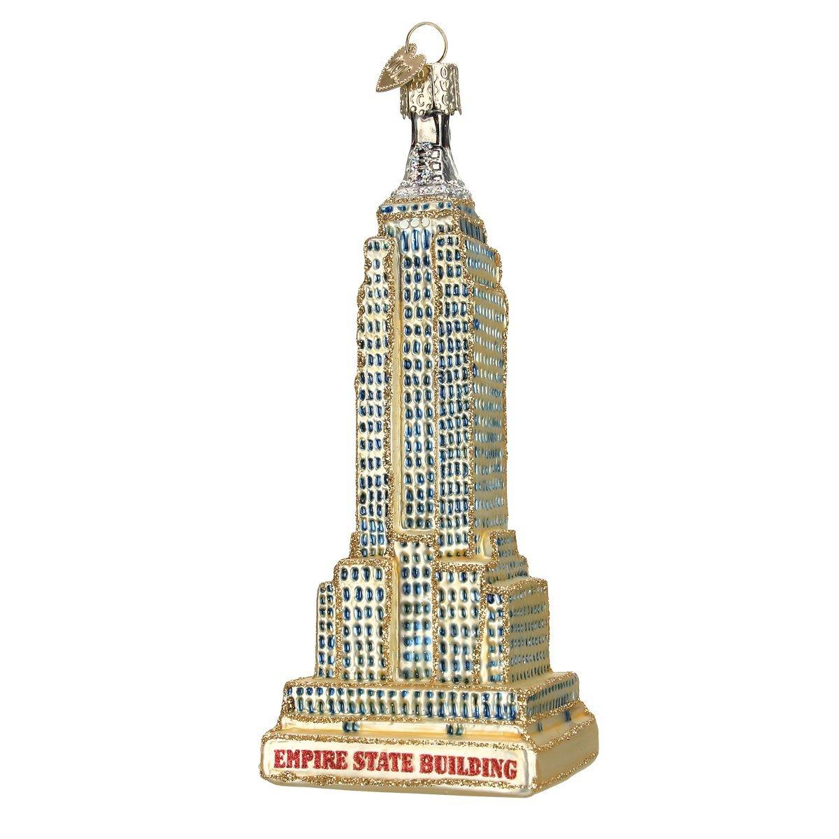 Old World Weihnachten Empire State Building Glas geblasen Ornament