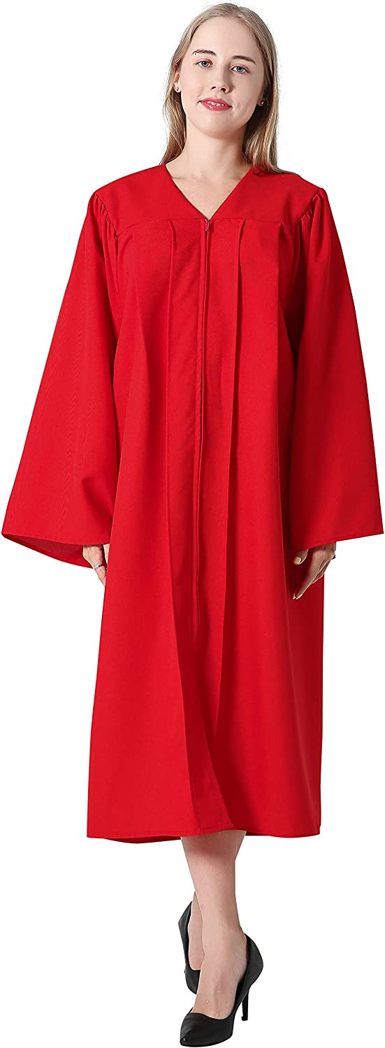 IvyRobes Unisex Matte Confirmation Robe for Baptism with Open Sleeve