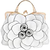 Celsino Women Handbag Tote Purse Shoulder Bag Flower PU Leather Crossbody Top Handle Bags