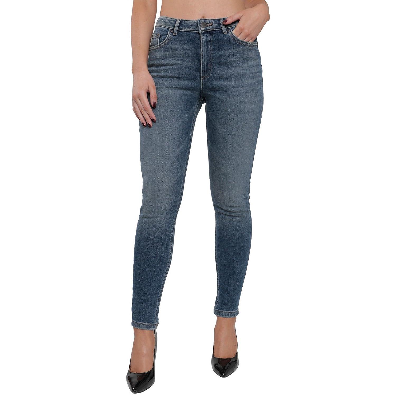 Ladies Ex UK Store Dark Indigo Blue Cropped Capri Jeans Size 8-20 *NEW*