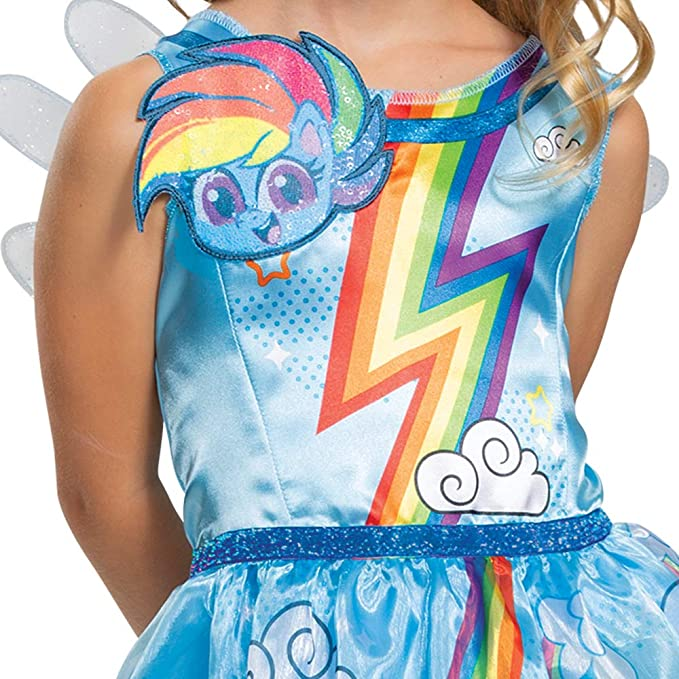 Girl Deluxe Dash Rainbow My Little Pony Costume Unicorn Fancy Child Outfit Dress