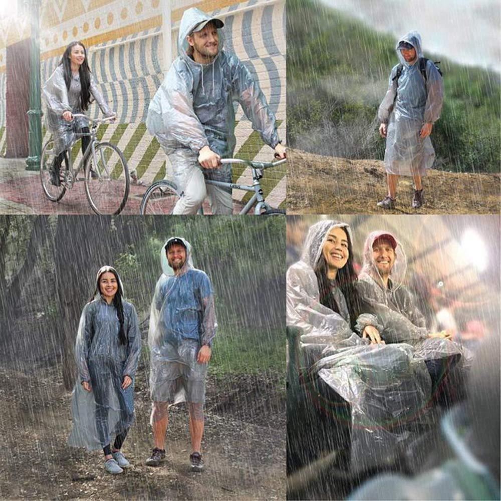 Difenlun Disposable Rain Ponchos,Emergency Waterproof Raincoat with Hood