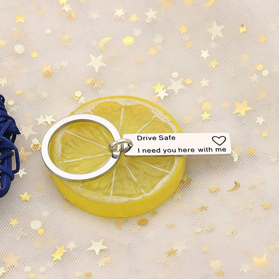 Runalp Drive Safe Keychain, I Need You here with me, Style 1