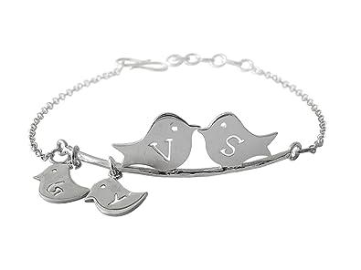 Buy Aastha Jain Personalised Sterling Silver Initial Family Bracelet