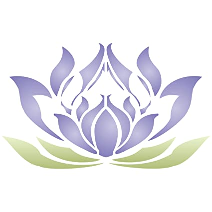 amazon com lotus flower stencil size 5 w x 3 h reusable wall