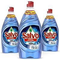 Salvo Power Clean Lavatrastes Liquido 3 unidades de 750ml, Total 2.3L