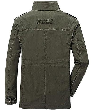 Amazon.com: uygmxdnxg Hombres Estilo Militar de LA Fuerza Aérea Militar Chamarra Coat Tops Bomber Chaquetas: Clothing