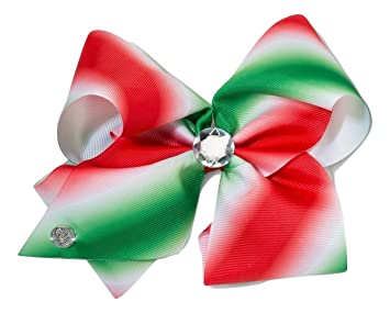 jojo siwa large red and green ombre christmas bow - Large Christmas Bows