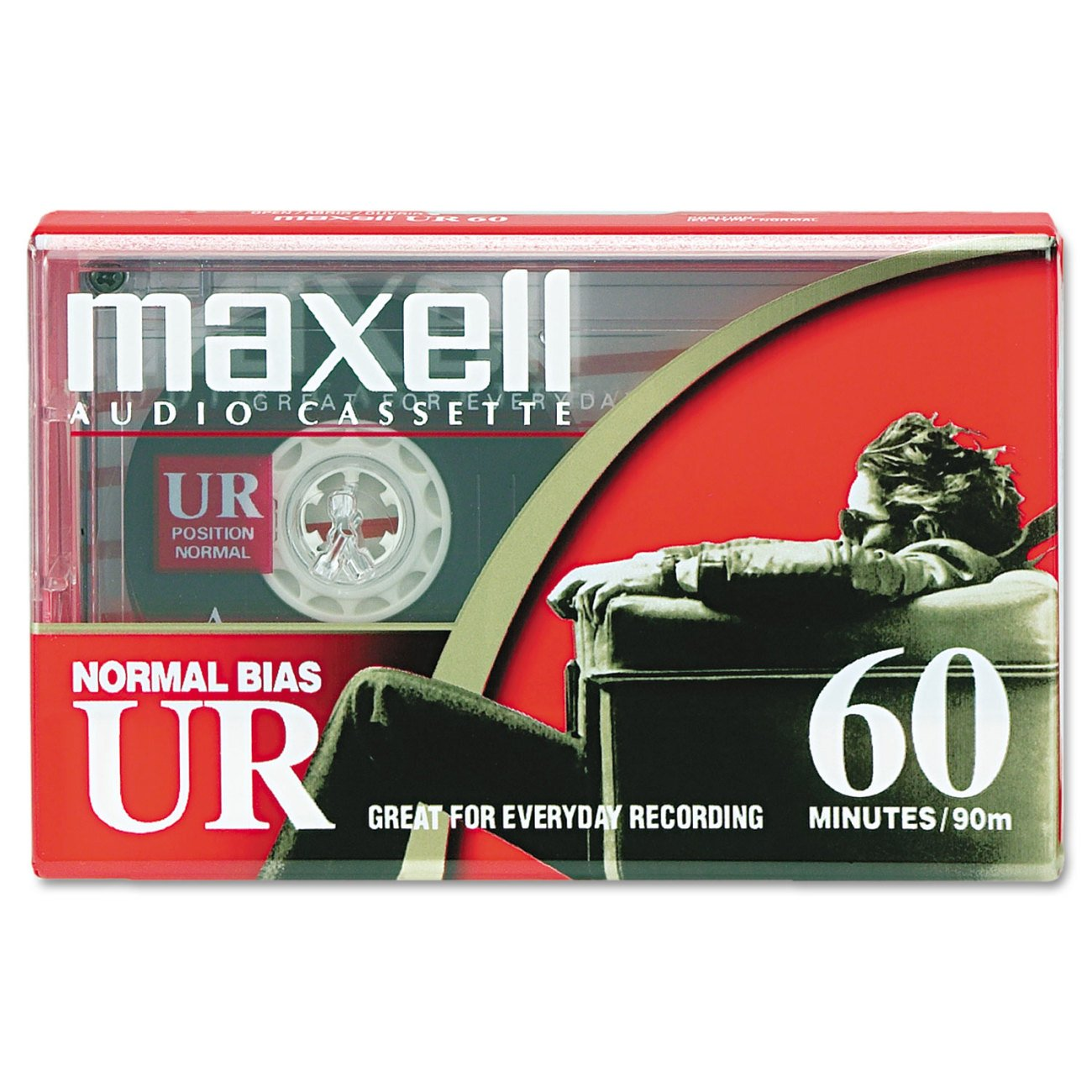 Dictation & Audio Cassette, Normal Bias, 60 Minutes (30 x 2) Maxell 109010 Accessory Consumer Accessories