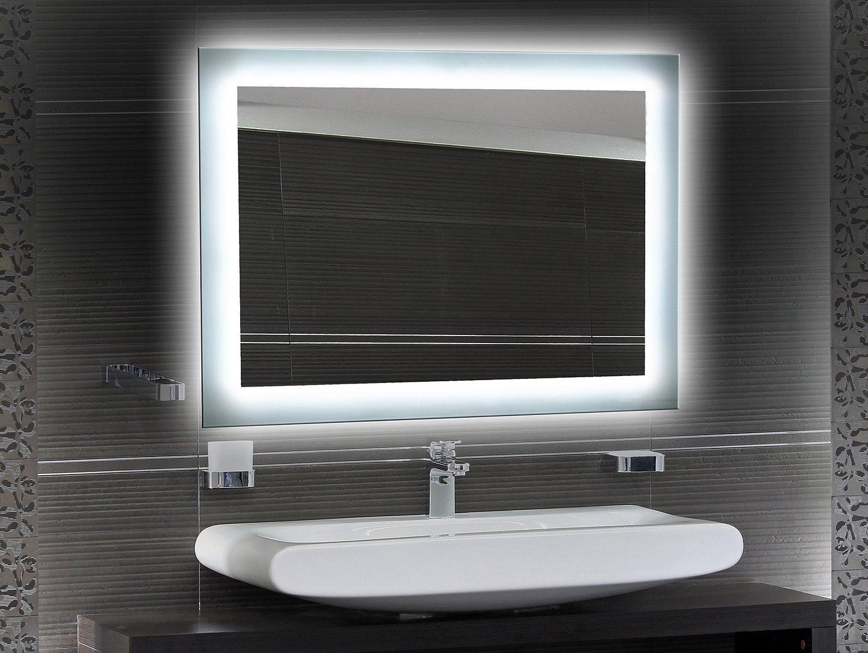 Bilderdepot24 Bilderdepot24 Bilderdepot24 Beleuchteter LED Spiegel Badspiegel Wandspiegel mit Beleuchtung - 65x50 cm - O-LED dd2afd