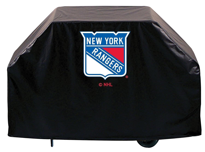 New York Rangers HbsブラックアウトドアHeavy Duty通気性ビニールBBQグリルカバー B01ETT1628   60\