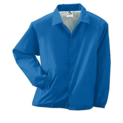 Augusta Drop Ship Lined Nylon Coach's Jacket (3100)- ROYAL,3XL