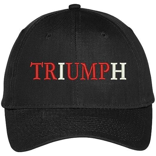 0d30b018ebabf Trendy Apparel Shop Triumph Donald Trump Embroidered High Profile Baseball  Cap - Black
