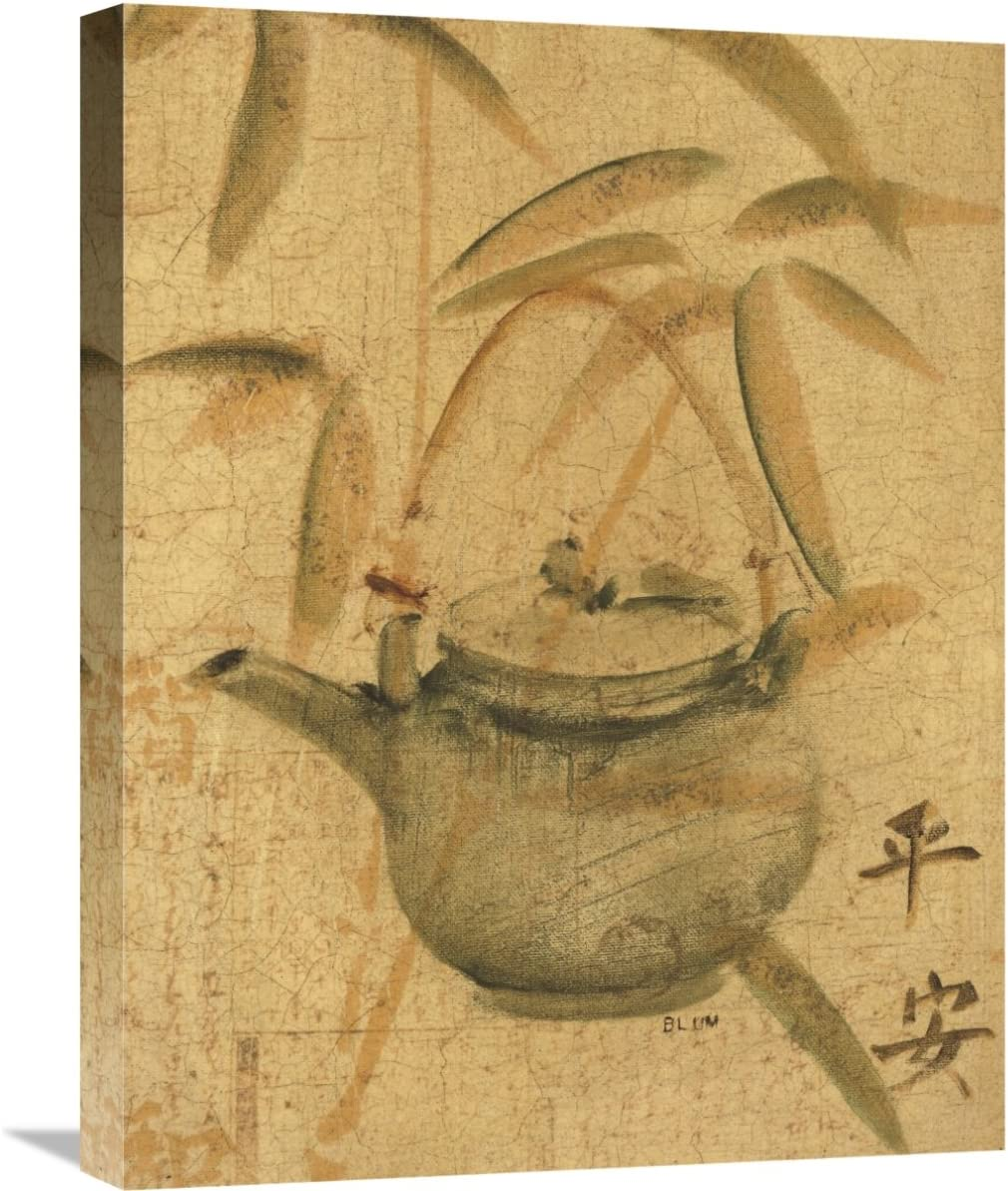 Global Gallery Cheri Blum Asian Teapot I Giclee Stretched Canvas Artwork 18 X 24 Posters Prints