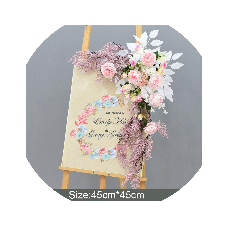 Amazon.com: DIY Boda Props Boda Tarjeta de Bienvenida Flores ...