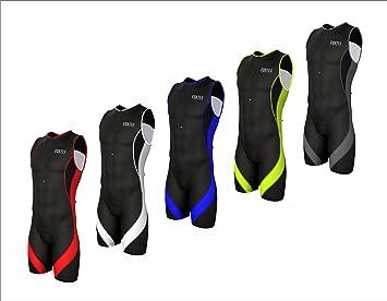 Traje de compresión de triatlón deportivo para hombre para ciclismo, maratón, natación, de Foxter