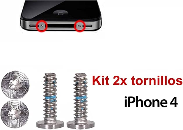 Ilovemyphone Kit Pack 2X Tornillos para Apple iPhone 4, 4S ...