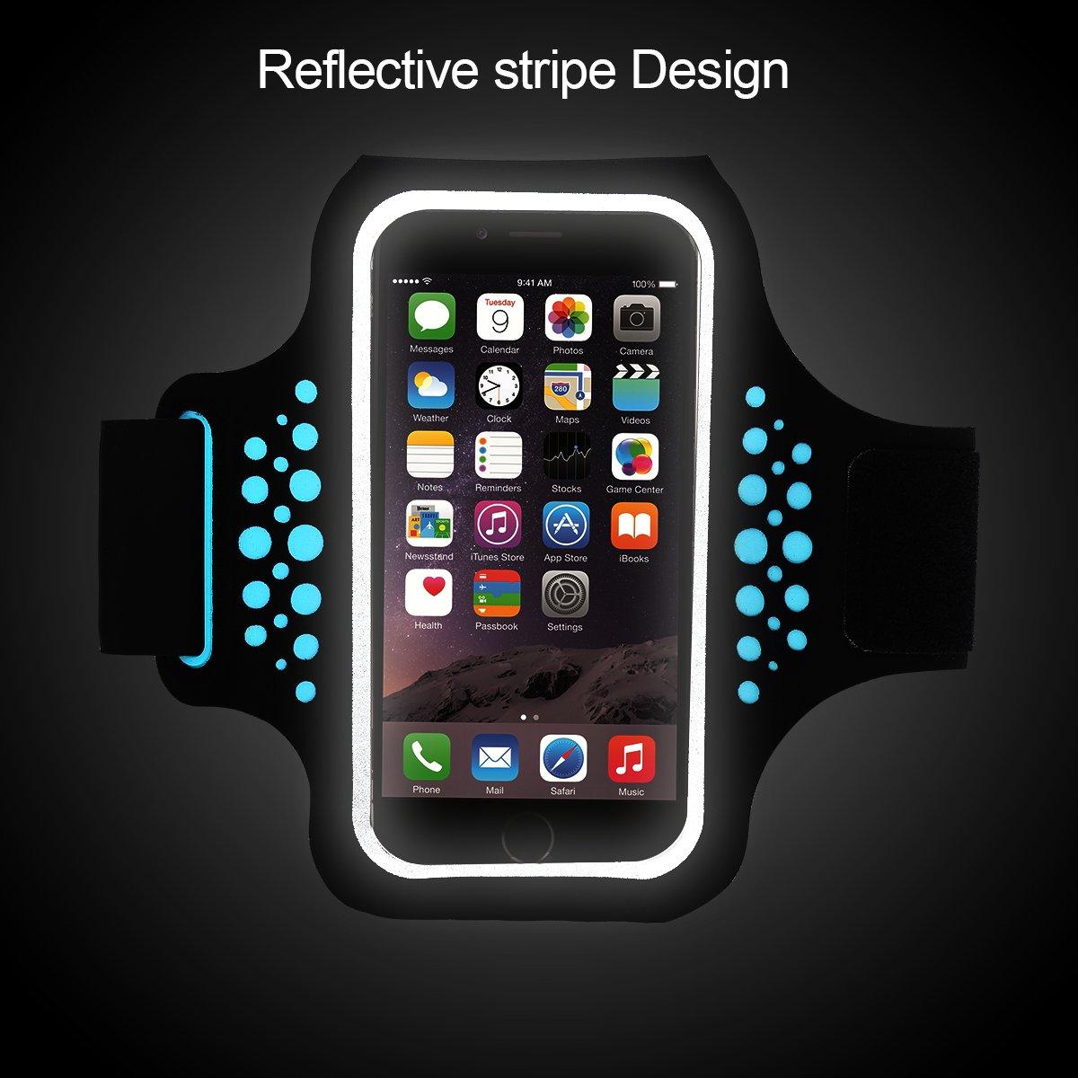 Ajustable Adecuado para iPhone 8 Plus//7 Plus//6 Plus y Otros Moviles Inteligentes hasta 5.8 Pulgadas Guzack Brazalete Deportivo para Correr Bandas para el Brazo Running Armband para Tel/éfono Moviles