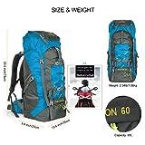 OUTLIFE 60L Hiking Backpack, Lightweight Waterproof