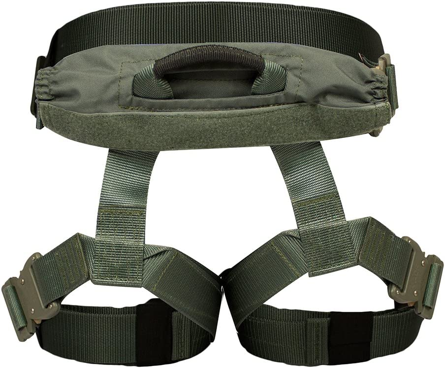 RH-1321-32 Fusion Tactical Griffin Military Police Half Body Search Rescue Harness Duty Belt 23kN Medium Foliage Green