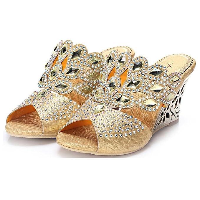 cristal diamante pendiente con tacones altos sandalias hecho a mano cuero mujer noche banquete fiesta club nocturno zapatillas hueco hebilla zapatillas zapatos . green . 38 7tvhH9907