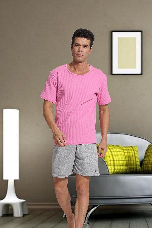 Godsen Mens Casual Wear Cotton Short Pajama Set Lounge Comfortable Sleepwear