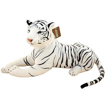 Amazon Com Jesonn Realistic Stuffed Animals Tiger Toys Plush White