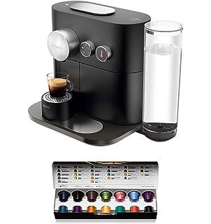 Nespresso DeLonghi Expert Milk EN355.GAE - Cafetera monodosis de cápsulas Nespresso + aeroccino, controlable con smartphone via bluetooth, recetas ajustables, 19 bares, apagado automático, antracita: Amazon.es: Hogar