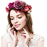 Ever Fairy®, Corona di fiori nuziale, copricapo naturale rustico da sposa, ispirazione greca